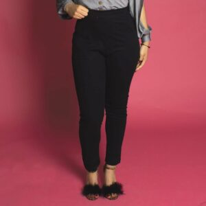 pin up vintage rockabilly trousers high waisted capri in black
