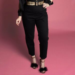 pinup rockabilly vintage inspired 50s 60s trousers pants capris Black