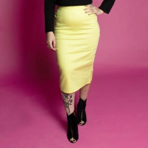 Classic rockabilly 50s pencil skirt with pockets
