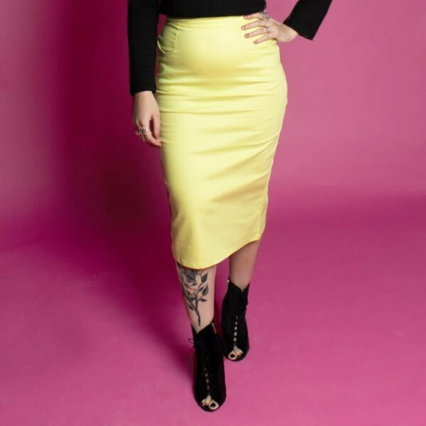 Classic rockabilly 50s pencil skirt with pockets, pinup style, vintage penic skirts, sustainable fashion