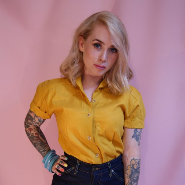 1950s 50s 1960s 60s womens clothing vintage blouse with super high waist denim shorts