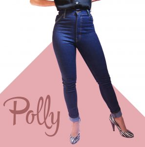 High waist vintage style jeans for petite women 50s style jeans for petite bodies.