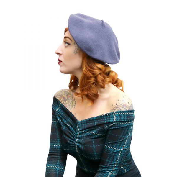 beret hat, vintage style pin-up fashion. a cute parisian accessory. From eco sustainable fashion brand lady k loves.