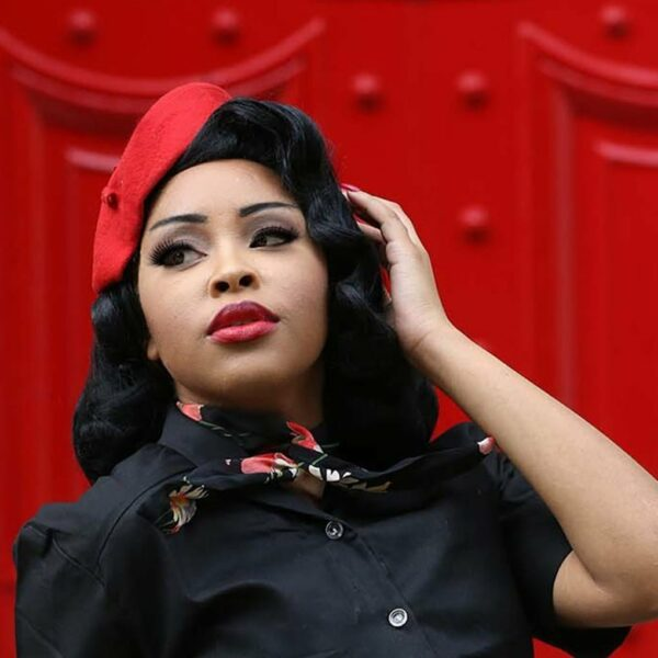 Buy Pin up style fashion accessories, red beret