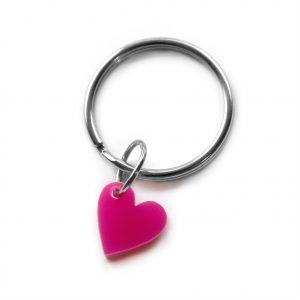 Pink heart key ring