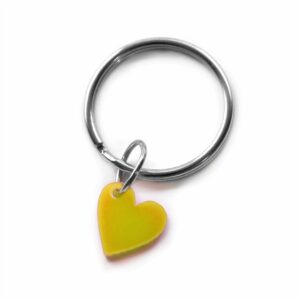 Yellow heart key ring