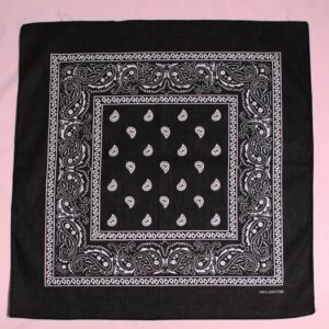 Classic black authentic traditional bandanna how to wear a bandanna as a headscarf