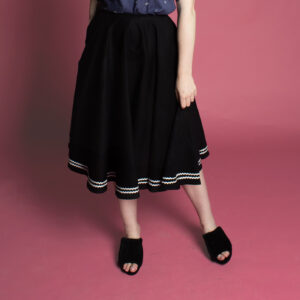 Vintage inspires 50s 60s 40s circle skirt with pockets