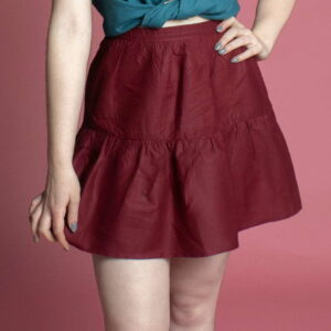 Mini skater skirt organic cotton 40s 50s inspired