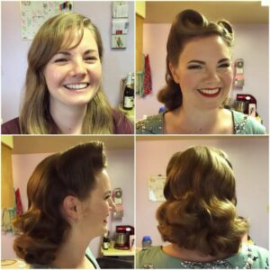 Pin up and vintage makeovers from Cherry Dollface | UK vintage hair and make up tour