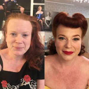 stunning pin up style vintage makeover from one of Cherry Dollfaces's US sessions