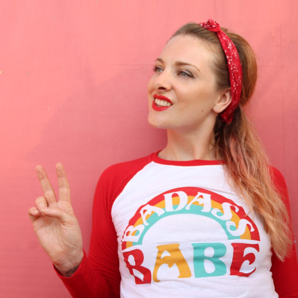 Kessie Hodges Lady K Loves founder vintage inspired baseball tee rockabilly clothing