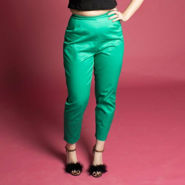 pinup rockabilly vintage inspired 50s 60s cigarette trousers pants capris green emerald