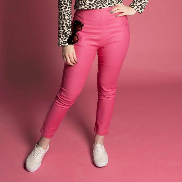 pin up vintage rockabilly trousers pants capris in bright pink