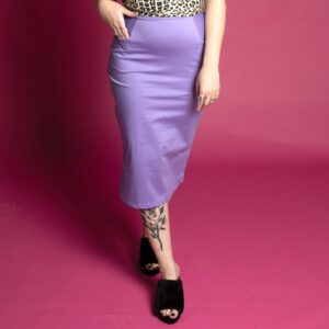 Retro high waist pencil skirt with pockets