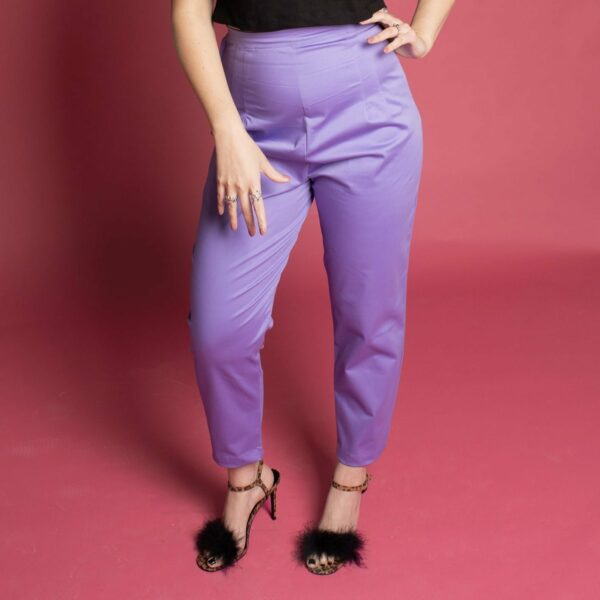 pinup rockabilly vintage inspired 50s 60s trousers pants capris violet lilac purple