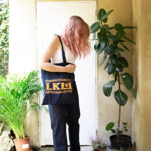 Super high waisted retro vintage jeans. Lady K Loves vintage retro inspired ethical jeans brand. Cotton tote bag shopper shopping bag. tote bag