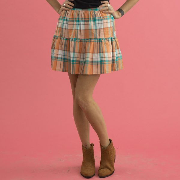 Vintage picnic check skater skirt country western style clothing - Lady K Loves