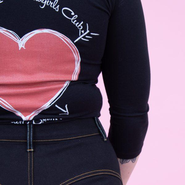 Black Heart graphici Lady K Loves bad girl club Heartbreaker retro vintage t shirt   Lady K Loves
